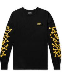Amiri - Printed Cotton-jersey T-shirt - Lyst