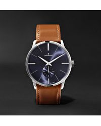 Junghans - Meister Handaufzug 38mm Stainless Steel And Leather Watch - Lyst