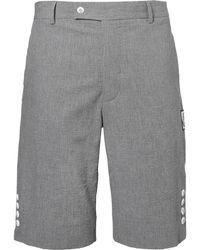 Moncler Gamme Bleu - Slim-fit Cotton-seersucker Shorts - Lyst