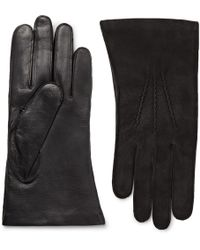 Dents - Warwick Cashmere-lined Suede And Leather Gloves - Lyst