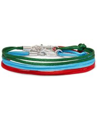 Rubinacci - Set Of Three Silk Ribbon Bracelets - Lyst