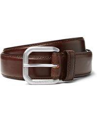 Maison Margiela - 3cm Brown Leather Belt - Lyst