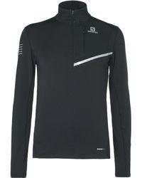 Yves Salomon - Fast Wing Slim-fit Stretch-jersey Half-zip Top - Lyst