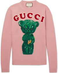 Gucci - Wool Jumper With Teddy Bear - Lyst