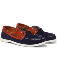 Quoddy - Downeast Two-tone Suede Boat Shoes - Lyst