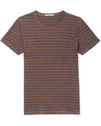 Nudie Jeans - Anders Striped Organic Cotton-jersey T-shirt - Lyst