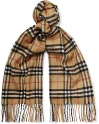 d49b19812 Burberry Checked Scarf in Black for Men - Lyst