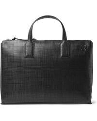 Loewe - Embossed Leather Briefcase - Lyst