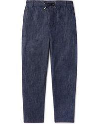 Maison Kitsuné - Denim Drawstring Trousers - Lyst
