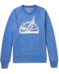 J.Crew - Printed Mélange Fleece-back Cotton-blend Jersey Sweatshirt - Lyst