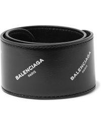 Balenciaga - Printed Leather Snap Bracelet - Lyst
