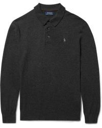 Polo Ralph Lauren - Slim-fit Knitted Cashmere Polo Shirt - Lyst