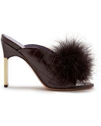 Mulberry - Greta Mule & Feather Pompom - Lyst