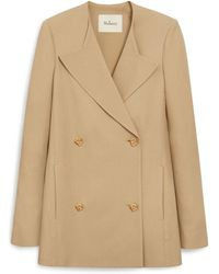 Mulberry - Martha Jacket In Light Dune Viscose Crepe - Lyst
