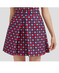 de347adc58 Mulberry - Janice Skirt In Midnight Retro Crepe - Lyst