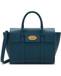 Mulberry - Small Bayswater In Deep Sea Small Classic Grain - Lyst