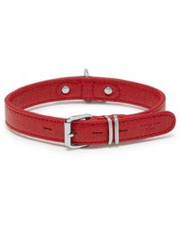 Mulberry - 2cm Urbanite Collar In Scarlet Leather And Suede - Lyst