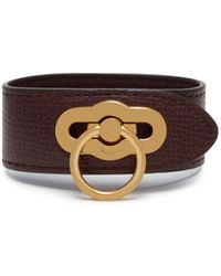 Mulberry - Amberley Bracelet In Oxblood Cross Grain Leather - Lyst