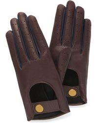 Mulberry - Biker Gloves In Burgundy Smooth Nappa - Lyst