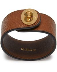 Mulberry - Large Bayswater Bracelet In Oak Natural Grain Leather - Lyst