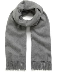 Mulberry - Lambswool Scarf In Light Grey - Lyst