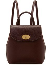 Mulberry - Mini Bayswater Backpack In Oxblood Natural Grain Leather - Lyst
