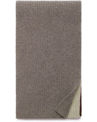 Mulberry - Knitted Scarf In Clay Lambswool - Lyst