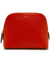 2b79af09e6d Mulberry - Cosmetic Pouch In Hibiscus Red Small Classic Grain - Lyst
