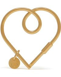 Mulberry - Large Looped Heart Keyring - Lyst