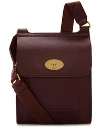 Mulberry - New Antony Bag In Oxblood - Lyst