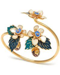Mulberry - Flower Bracelet In Soft Gold Brass And Enamel - Lyst