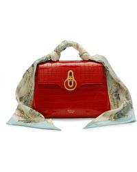 Mulberry - Mini Seaton With Scarf In Scarlet Croc Print - Lyst aa432717558ae