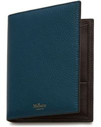 Mulberry - Passport Cover Wallet In Deep Sea Small Classic Grain - Lyst