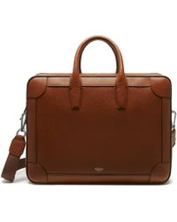 Mulberry - Belgrave Double Document Holder In Oak Natural Grain Leather - Lyst