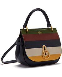 44025c567f Mulberry - Small Amberley Satchel In Multicolour Silky Calf Horizontal  Stripe - Lyst