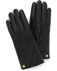 Mulberry - Quilted Nappa Gloves In Black Nappa Leather - Lyst