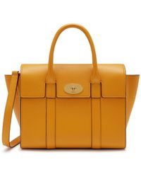 Mulberry - Small Bayswater In Deep Amber Small Classic Grain - Lyst