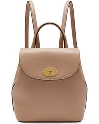 Mulberry - Mini Bayswater Backpack In Rosewater Small Classic Grain - Lyst