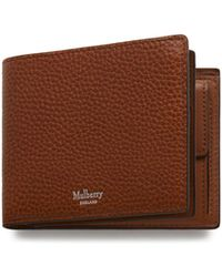 Mulberry - 8 Card Coin Wallet In Oak Natural Grain Leather - Lyst