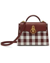 Mulberry - Mini Seaton In Venetian Red Vichy Woven Check - Online Exclusive  - Lyst ef6b358e70b3e
