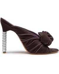 Mulberry - Greta Rose Mule In Chocolate Brown Velvet - Lyst