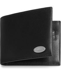 Mulberry - Oval Plaque 6 Card Wallet In Black Silky Calf - Lyst