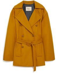 Mulberry - Petra Coat In Saffron Wool Cashmere - Lyst