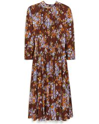 Mulberry - Lianne Dress In Purple Heather Bouquet Fluid Jersey - Lyst
