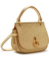 Mulberry - Small Amberley Satchel In Gold Glitter - Lyst