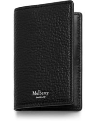 Mulberry - Card Case In Black Natural Grain Leather - Lyst