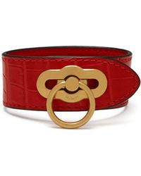 Mulberry - Amberley Bracelet In Ruby Red Croc-embossed Nappa - Lyst