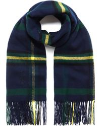 Mulberry - Large Check Wool Wrap - Lyst