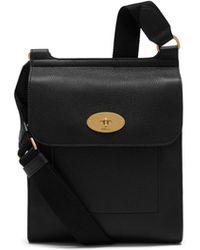 aa17633ab97 Mulberry New Antony Messenger In Black Natural Grain Leather in Black for  Men - Lyst