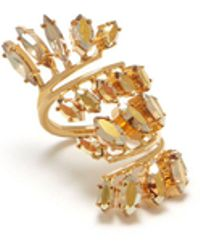 Mulberry - Dazzle Ring In Gold Brass And Strass - Lyst